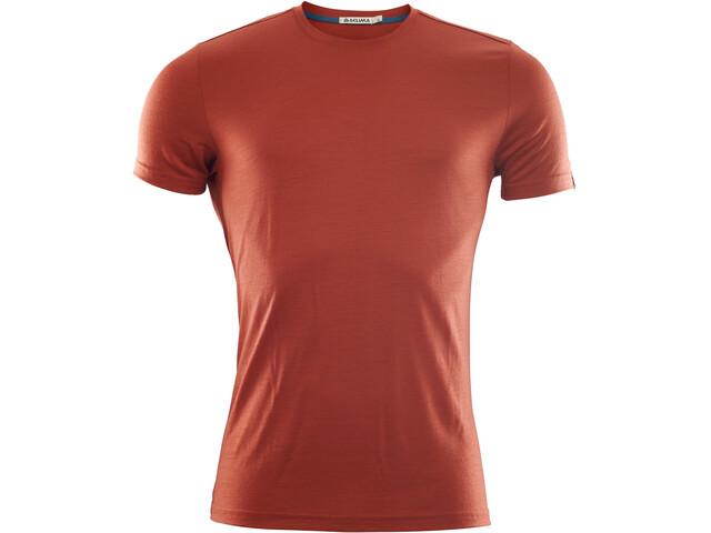 Aclima LightWool T-Shirt Homme, red ochre